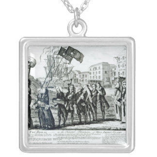The Repeal, or the Funeral Procession Silver Plated Necklace