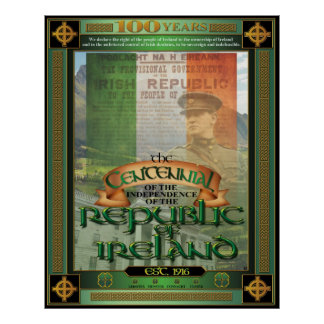 The Republic of Ireland Centennial. Print