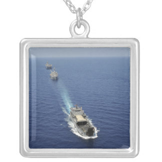 The Republic of the Philippines Navy ships Silver Plated Necklace
