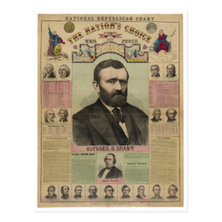 The Republican Chart Ulysses S. Grant by M.T. Boyd Postcard