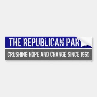 THE REPUBLICAN PARTY BUMPER STICKER