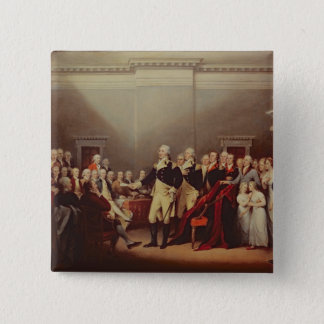 The Resignation of George Washington 15 Cm Square Badge