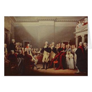 The Resignation of George Washington Greeting Cards
