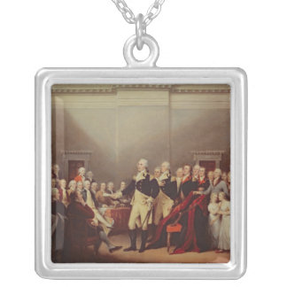 The Resignation of George Washington Silver Plated Necklace