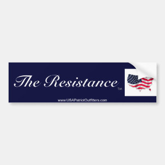 The Resistance is America Bumper Sticker
