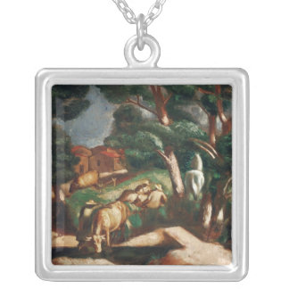 The Rest in the Country, 1925 Silver Plated Necklace