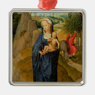 The Rest on the Flight into Egypt oil on panel Christmas Ornament