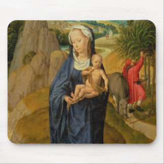 The Rest on the Flight into Egypt (oil on panel) Mouse Mat