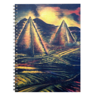 The Resting Place, Pyramids Spiral Notebook