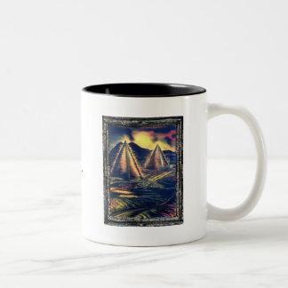 The Resting Place, Pyramids Two-Tone Coffee Mug