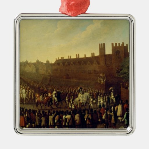 The Restoration of Charles II  at Whitehall Christmas Tree Ornament