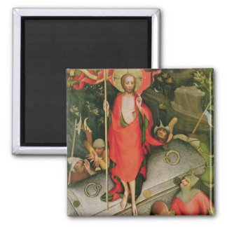 The Resurrection, c.1380 Square Magnet