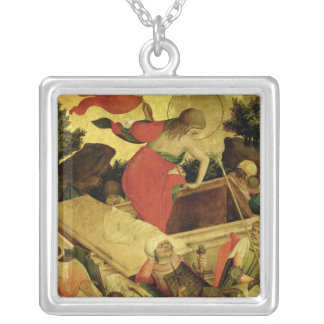 The Resurrection, panel from St. Thomas Altar Silver Plated Necklace