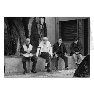 The Retired Sicilian Men Blank Card
