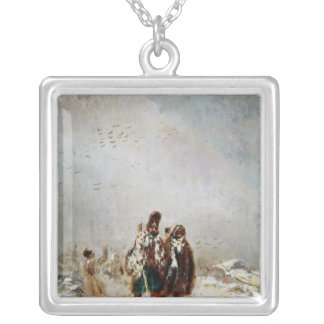 The Retreat from Russia Silver Plated Necklace