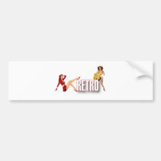 The RETRO Brand Bumper Sticker