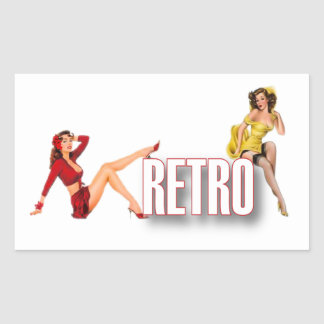 The RETRO Brand Rectangular Sticker