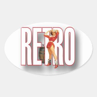 The RETRO Brand Oval Sticker