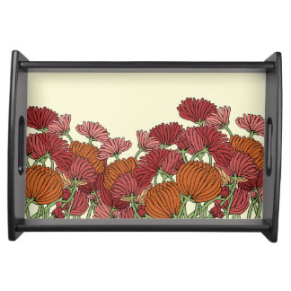 The Retro Flower in the Garden Serving Tray
