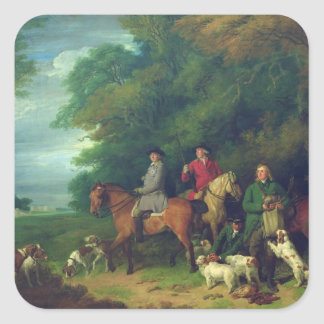 The Return from Shooting, 18th century Square Sticker