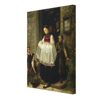 The Return from the Christening Canvas Print