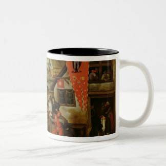 The Return from the Kermesse (oil on panel) Two-Tone Coffee Mug