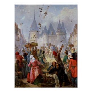 The Return of St. Louis  and Blanche of Castille Poster