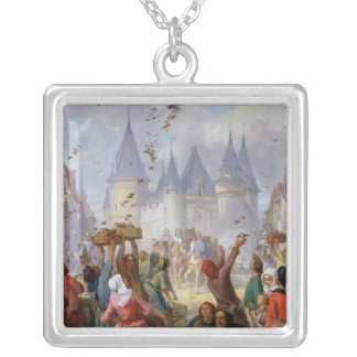 The Return of St. Louis  and Blanche of Castille Silver Plated Necklace