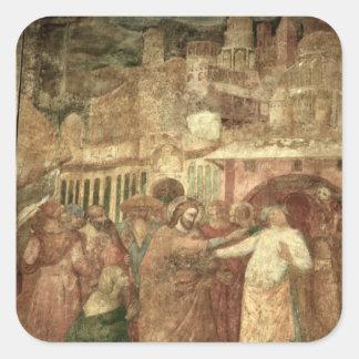 The Return of St. Ranieri, mid 14th century Square Sticker
