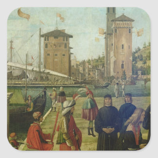 The Return of the Ambassadors, from the St. Ursula Square Sticker