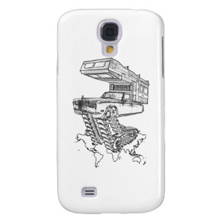 The Return of The Happy Camper Rolls On Tracks™ Samsung Galaxy S4 Cover