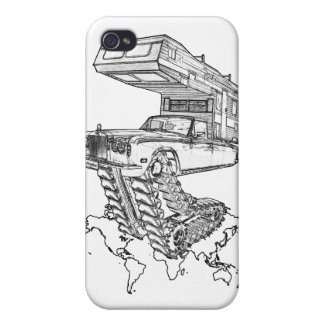 The Return of The Happy Camper Rolls On Tracks™ iPhone 4 Covers