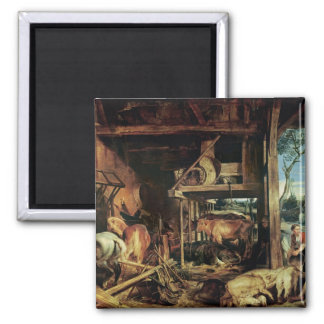 The Return of the Prodigal Son, c.1618 Square Magnet