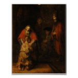 The Return of the Prodigal Son Vintage Art Poster