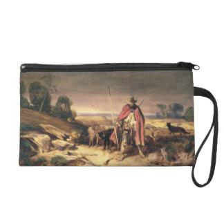 The Return of the Shepherd (pen & brown ink, w/c & Wristlet Clutches