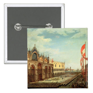 The Return of the St. Mark Troops to Venice 15 Cm Square Badge