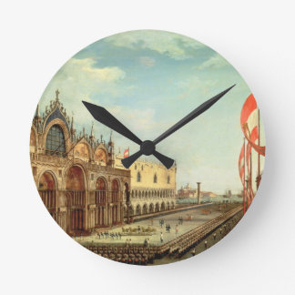 The Return of the St. Mark Troops to Venice Round Clock