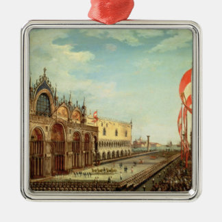 The Return of the St. Mark Troops to Venice Silver-Colored Square Decoration