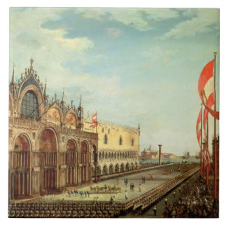 The Return of the St. Mark Troops to Venice Tile