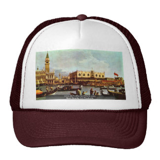 "The Return Of Venice ""Bucentaurus"" """" By Canaletto Mesh Hats"
