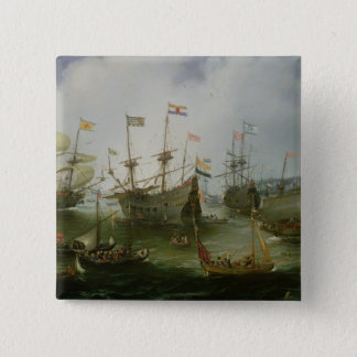 The Return to Amsterdam 15 Cm Square Badge