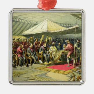 The Return Visit of the Viceroy to the Maharajah o Christmas Ornament