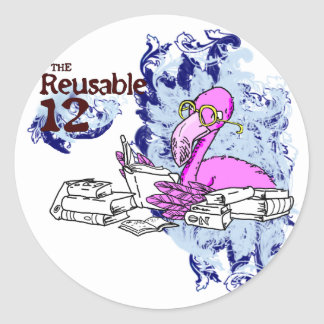 The Reusable 12 Classic Round Sticker