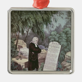 The Rev. John Wesley visiting his mother's grave Christmas Ornament