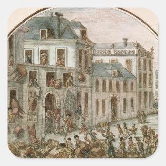 The Reveillon Riot of April, 1789 Square Sticker