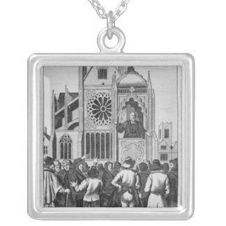 The Reverend Dr. Shaw Preaching Silver Plated Necklace