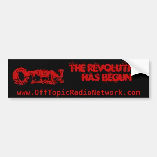 The REVOLUTION bumper sticker