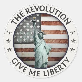 The Revolution Round Stickers