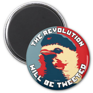 The Revolution will be Tweeted 6 Cm Round Magnet