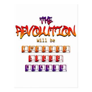 The revolution will be tweeted liked & shared (Ver Postcard